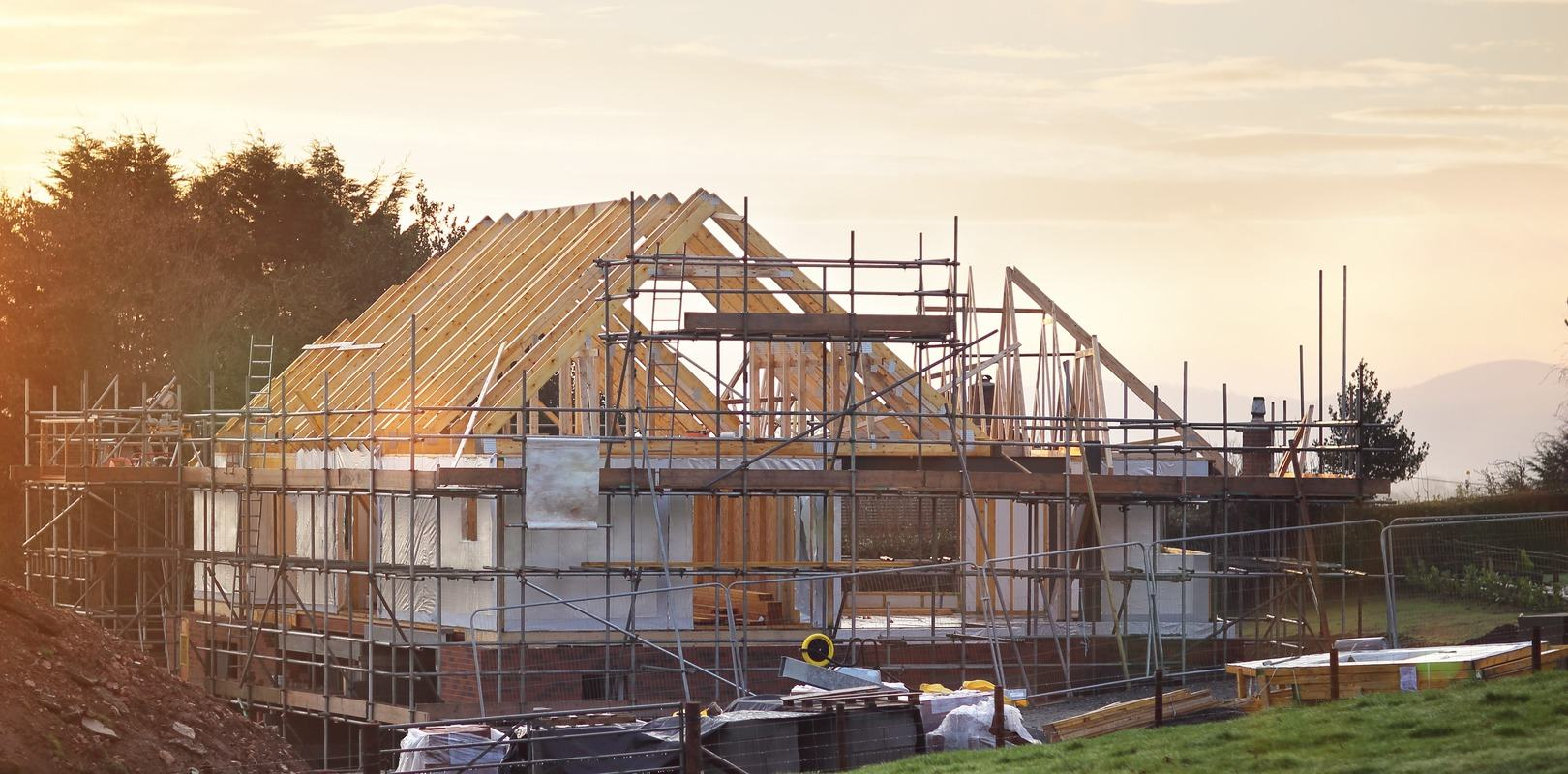 Home with a timber roof, non standard construction